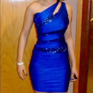 After 5 Cobalt Blue Mini Dress